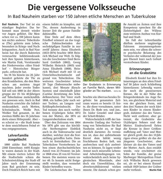 Wetterauer Zeitung vom 18. April 2020