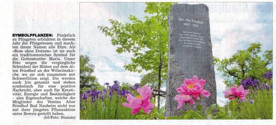 Wetterauer Zeitung vom3,.05.2012