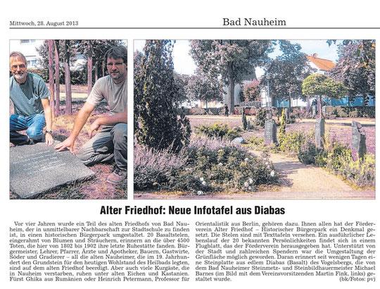 Wetterauer Zeitung vom 28.08.2013