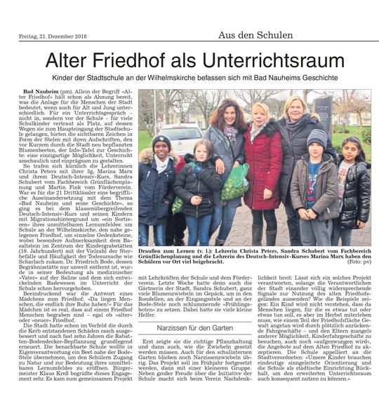 Wetterauer Zeitung vom 21. Dezember 2018