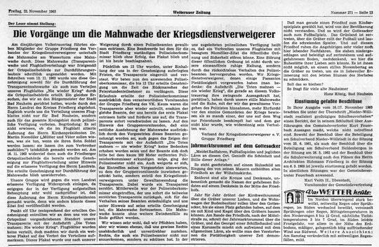 Wetterauer Zeitung vom 22.11.1963