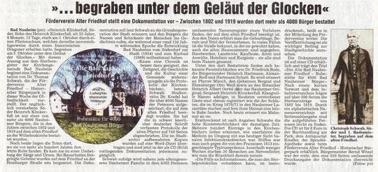 Wetterauer Zeitung vom 22.11.2007