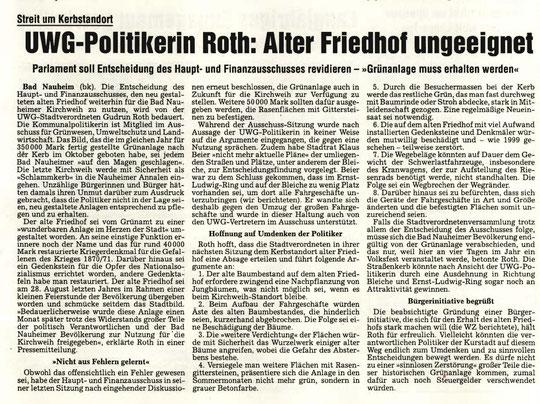 Wetterauer Zeitung vom 22.01.2000