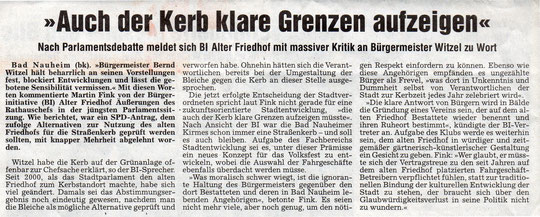 Wetterauer Zeitung vom 01.02.2007