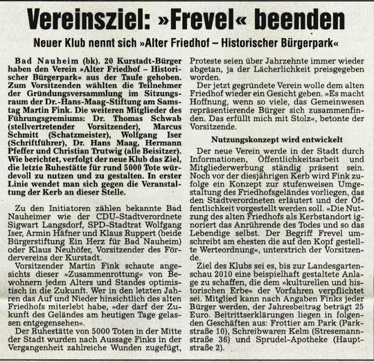 Wetterauer Zeitung vom 06.03.2007
