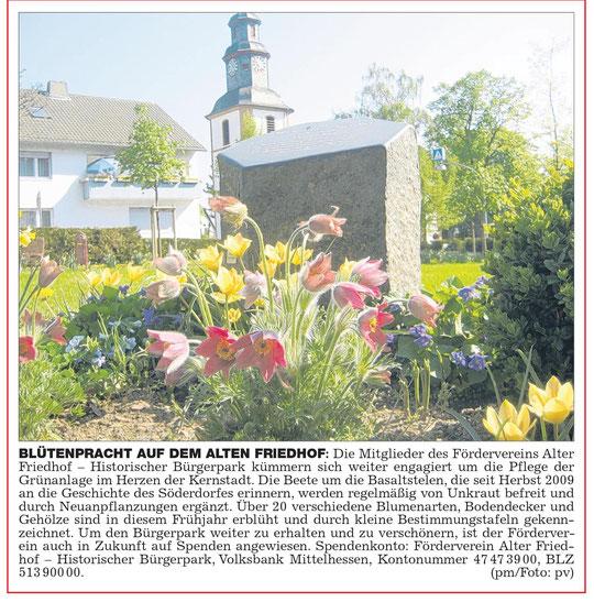 Wetterauer Zeitung vom 29.04.2011