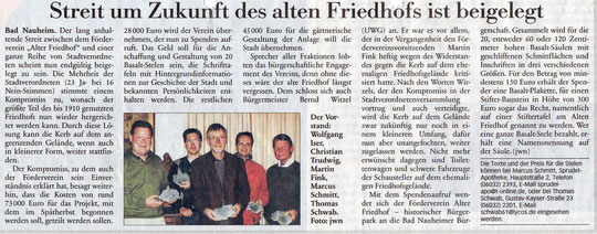 Frankfurter Neue Presse vom 29. April 2008