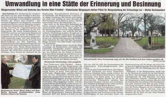 Wetterauer Zeitung vom 22. März 2008