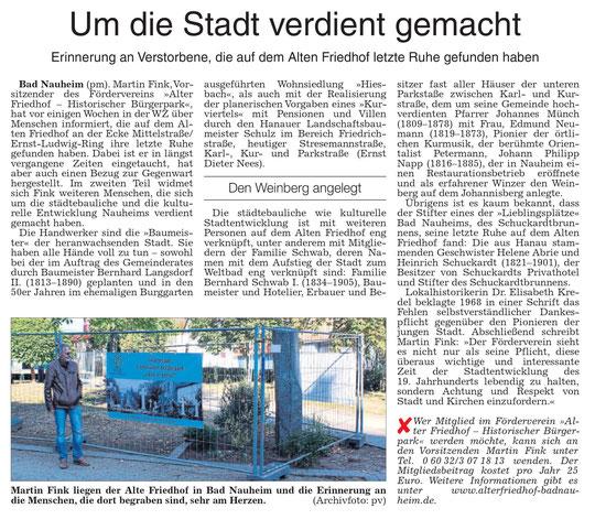 Wetterauer Zeitung vom 31. Oktober 2019