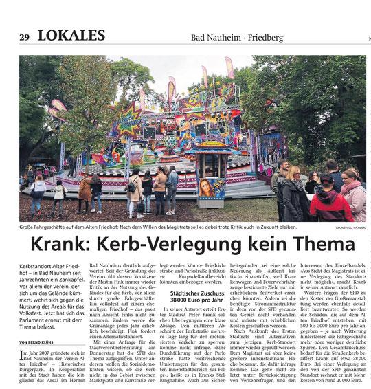 Wetterauer Zeitung vom 29. Februar 2020