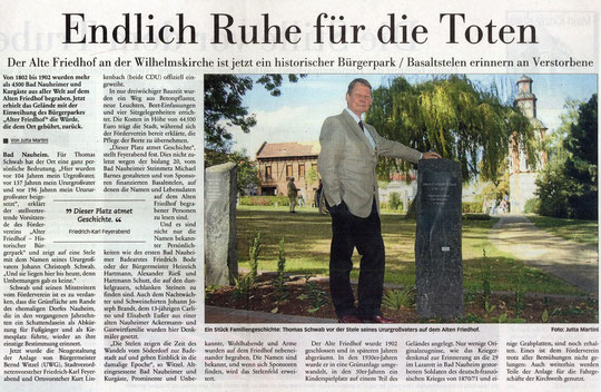 Frankfurter Neue Presse vom 5. Sept. 2009