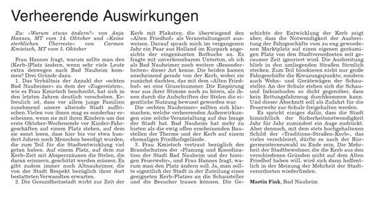 Wetterauer Zeitung vom 21. Oktober 2016