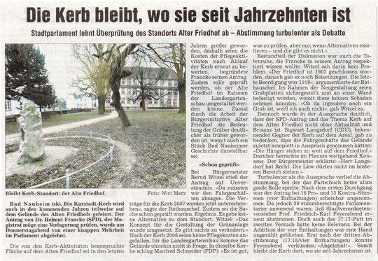 Wetterauer Zeitung vom 27-01.2007