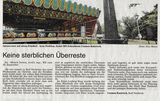 Wetterauer Zeitung vom 05. Oktober 2016