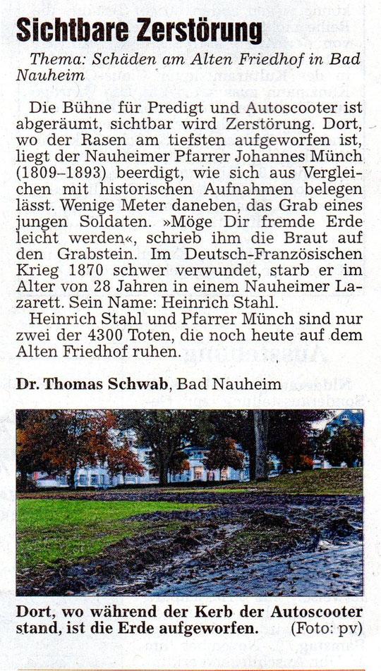 Wetterauer Zeitung vom