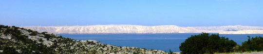 """Küste in Richtung Rieka """"Hintergrund die Insel PAG"""""""