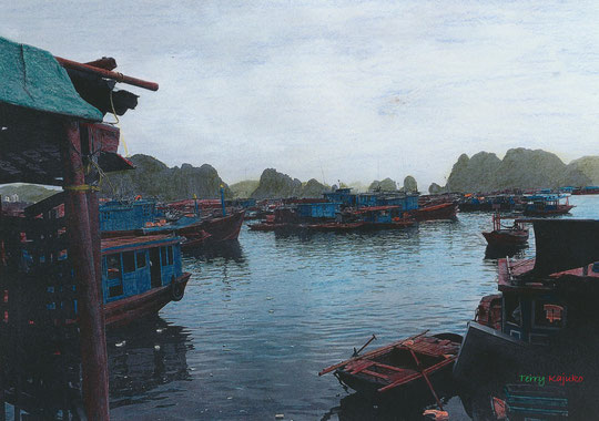 Vietnam, Halong Bay 01/2008, Foto Terry Kajuko