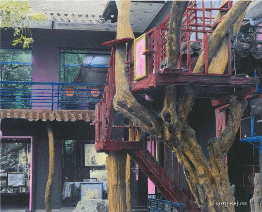 Vietnam - Nha Trang,  Innenhof des Kunstatelier Tranh Lua Xo , Foto Terry Kajuko