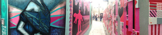 Alley with murals