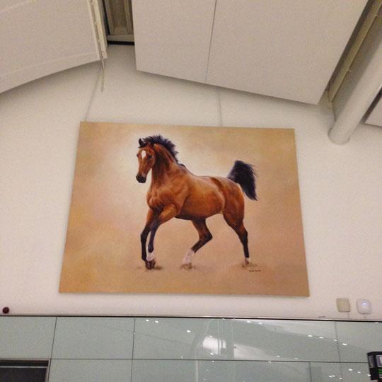 Big horse mural