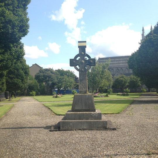 Celtic cross in churchyard