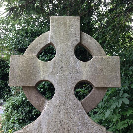 Celtic cross in cemetary