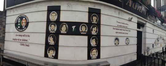 Hunger striker mural