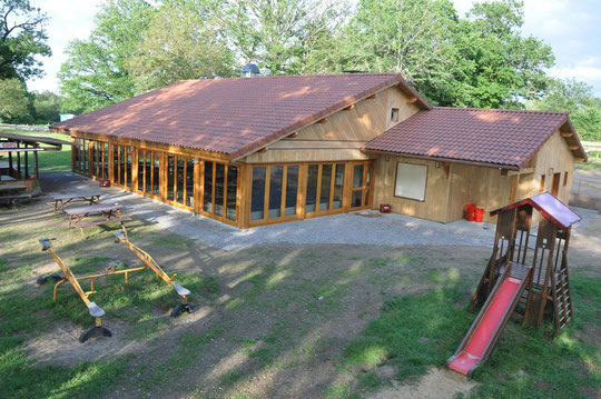 le nouveau bâtiment de restauration