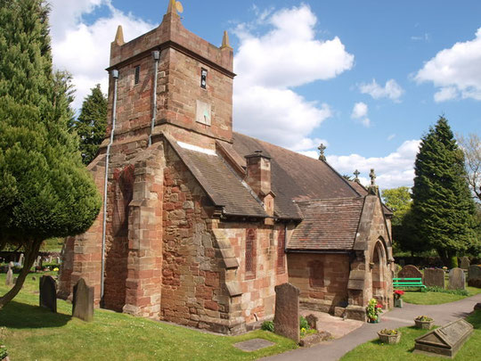 Image of St Leonard's, Frankley viewed from the south-west by Lambert on Geograph SO9980 reusable under Creative Commons licence Attribution-ShareAlike 2.0 Generic
