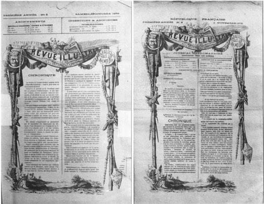 D13 - Les deux aspects successifs de La Revue Illustrée, numéro 3 et numéro 6.