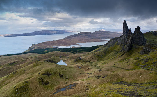 While walking the Skye Trail we camped below Old Man of Storr on the Trotternish Peninsula (Cuillins, Elgol, Sligachan, Scotland, Schottland, Portree, Camasunary)