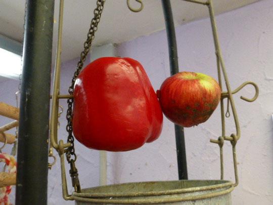 Paprika und Apfel sowie