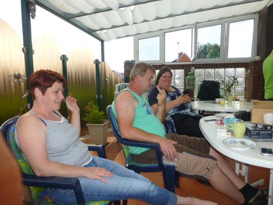 Jutta, Klaus und Nicole