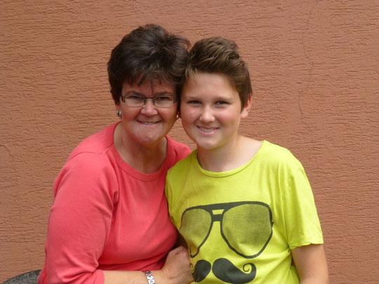 Malvin und seine Mama Dagmar. (Das Bild ist gut gelungen)