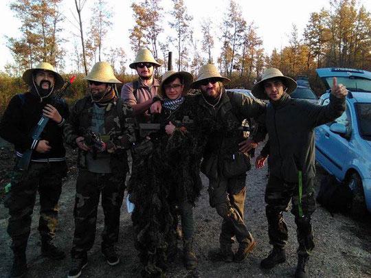 Alcuni dei nostri difensori in versione Viet-cong