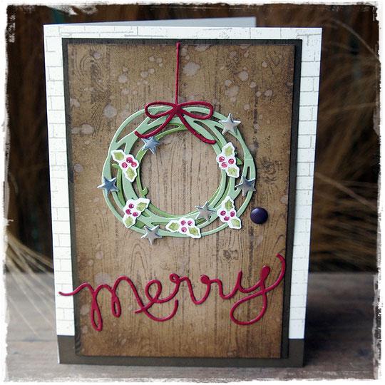stampin up - weihnachten - hardwood - swirly scribbles thinlits