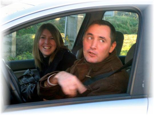 Les routiers de l'A.M. ont  croisé Didier en famille à leur retour des hauteurs de Jurançon