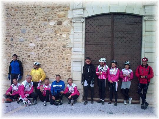 Une jolie boucle de 62 kms pour le GR 2 ( dont 3 féminines...Bravo les cyclotes ! )