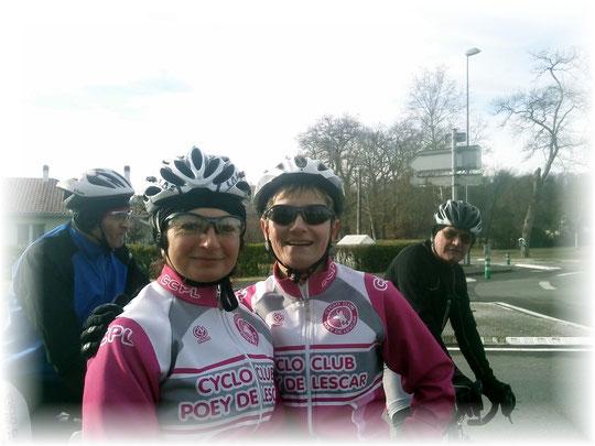 De nombreuses féminines roulent au CCPL, et parmi elles le sourire de Marie et Sylvie.
