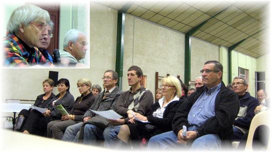 Une salle très attentive aux propos du Président du CCPL