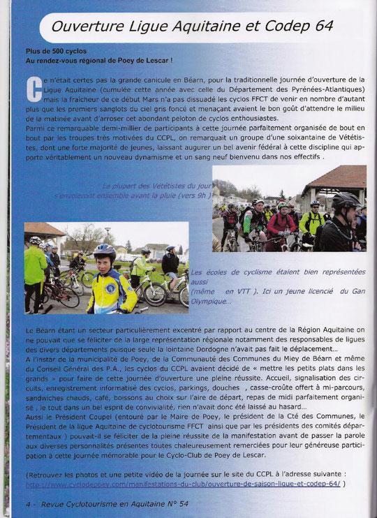 Une double page consacrée à l'Ouverture Régionale organisée par le CCPL