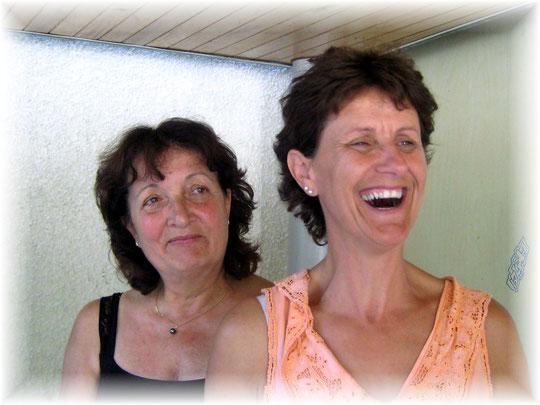 Aline et Cécile ( Comme leurs cinq amies du CCPL ) ont rallié le terme de la seconde étape sans encombre...
