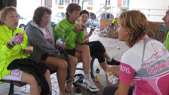 Marie-Hélène, Aline, Cécile, Claudette et Ghis étaient présentes ce samedi...