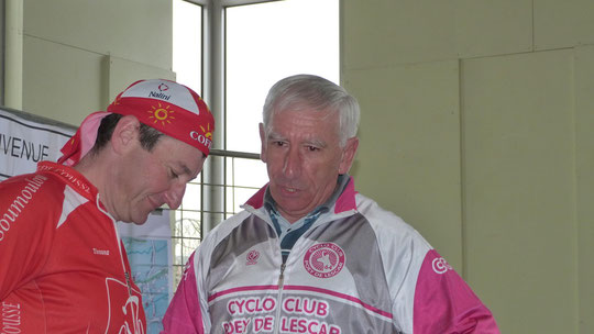 Jacques F., notre Secrétaire, avec Didier Thomas ( Un ancien du CCPL )