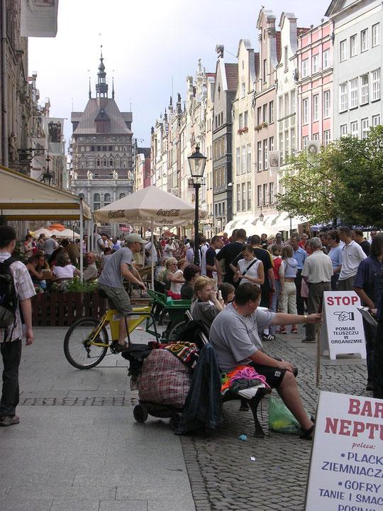 Blick auf die Häuserfassaden der Altstadt von Gdansk (Danzig) (Foto Jörg Schwarz)