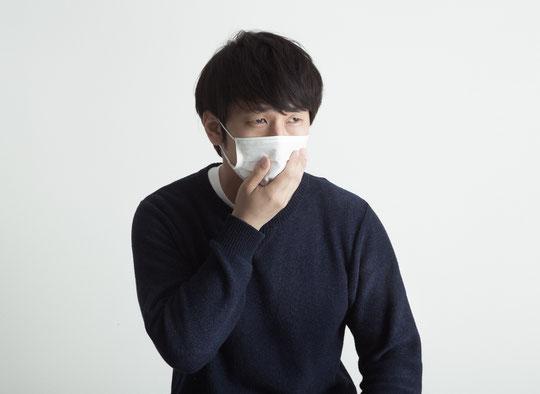 咳で首が痛くなった奈良県葛城市の男性