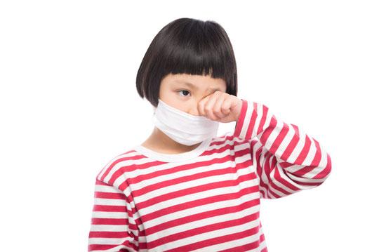 花粉症で肩こりの奈良県御所市の女の子