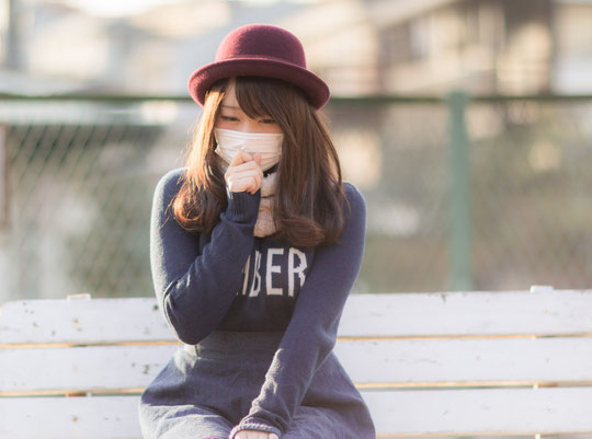 風邪の時に首が痛い奈良県御所市の女性