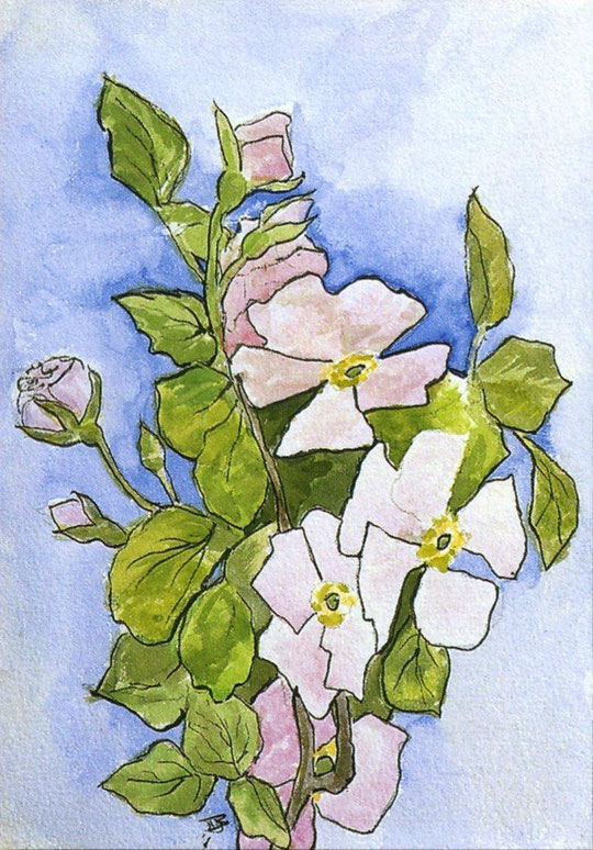 """Рисунок Вел. Кн. Марии Николаевны. """"Цветы"""""""