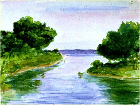 Рисунок великой княжны Ольги Николаевны. 1913 г.